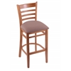 "Holland Bar Stool Co. 3140  25"" Stool with Medium Finish, Axis Willow Seat"