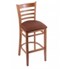 "Holland Bar Stool Co. 3140  25"" Stool with Medium Finish, Rein Adobe Seat"