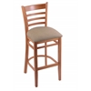 "Holland Bar Stool Co. 3140  30"" Stool with Medium Finish, Rein Thatch Seat"