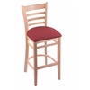 "Holland Bar Stool Co. 3140  25"" Stool with Natural Finish, Allante Wine Seat"