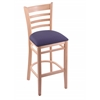 "3140 25"" Stool with Natural Finish, Axis Denim Seat"