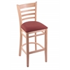 "3140 25"" Stool with Natural Finish, Axis Paprika Seat"