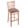 "3140 25"" Stool with Natural Finish, Axis Willow Seat"