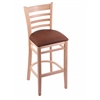 "Holland Bar Stool Co. 3140  30"" Stool with Natural Finish, Rein Adobe Seat"
