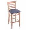 "Holland Bar Stool Co. 3140  25"" Stool with Natural Finish, Rein Bay Seat"