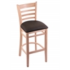"Holland Bar Stool Co. 3140  25"" Stool with Natural Finish, Rein Coffee Seat"