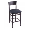 "Holland Bar Stool Co. 3160  30"" Stool with Black Finish, Allante Dark Blue Seat"