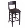 "Holland Bar Stool Co. 3160  25"" Stool with Black Finish, Allante Espresso Seat"