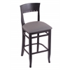 "Holland Bar Stool Co. 3160  25"" Stool with Black Finish, Allante Medium Grey Seat"