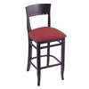 "Holland Bar Stool Co. 3160  25"" Stool with Black Finish, Allante Wine Seat"