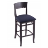 "Holland Bar Stool Co. 3160  25"" Stool with Black Finish, Axis Denim Seat"