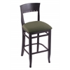 "Holland Bar Stool Co. 3160  30"" Stool with Black Finish, Axis Grove Seat"