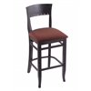 "3160 25"" Stool with Black Finish, Axis Paprika Seat"