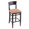 "Holland Bar Stool Co. 3160  25"" Stool with Black Finish, Axis Summer Seat"
