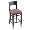 "3160 25"" Stool with Black Finish, Axis Willow Seat"