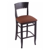 "Holland Bar Stool Co. 3160  30"" Stool with Black Finish, Rein Adobe Seat"