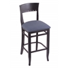 "Holland Bar Stool Co. 3160  25"" Stool with Black Finish, Rein Bay Seat"