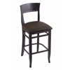 "Holland Bar Stool Co. 3160  25"" Stool with Black Finish, Rein Coffee Seat"