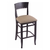 "Holland Bar Stool Co. 3160  25"" Stool with Black Finish, Rein Thatch Seat"
