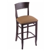 "3160 25"" Stool with Dark Cherry Finish, Allante Beechwood Seat"