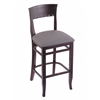 "3160 25"" Stool with Dark Cherry Finish, Allante Medium Grey Seat"