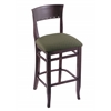 "3160 25"" Stool with Dark Cherry Finish, Axis Grove Seat"