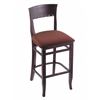 "3160 25"" Stool with Dark Cherry Finish, Axis Paprika Seat"
