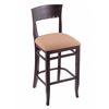 "3160 25"" Stool with Dark Cherry Finish, Axis Summer Seat"
