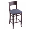 "Holland Bar Stool Co. 3160  25"" Stool with Dark Cherry Finish, Rein Bay Seat"
