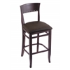 "3160 25"" Stool with Dark Cherry Finish, Rein Coffee Seat"