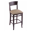 "3160 25"" Stool with Dark Cherry Finish, Rein Thatch Seat"