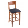 "Holland Bar Stool Co. 3160  25"" Stool with Medium Finish, Allante Dark Blue Seat"