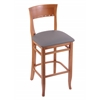 "Holland Bar Stool Co. 3160  25"" Stool with Medium Finish, Allante Medium Grey Seat"