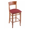 "Holland Bar Stool Co. 3160  25"" Stool with Medium Finish, Allante Wine Seat"