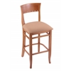 "Holland Bar Stool Co. 3160  25"" Stool with Medium Finish, Axis Summer Seat"