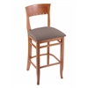 "3160 30"" Stool with Medium Finish, Axis Truffle Seat"