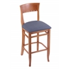 "Holland Bar Stool Co. 3160  25"" Stool with Medium Finish, Rein Bay Seat"