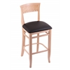 "3160 30"" Stool with Natural Finish, Allante Espresso Seat"