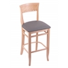 "Holland Bar Stool Co. 3160  25"" Stool with Natural Finish, Allante Medium Grey Seat"