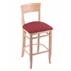 "Holland Bar Stool Co. 3160  25"" Stool with Natural Finish, Allante Wine Seat"