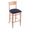 "Holland Bar Stool Co. 3160  25"" Stool with Natural Finish, Axis Denim Seat"