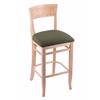 "Holland Bar Stool Co. 3160  25"" Stool with Natural Finish, Axis Grove Seat"