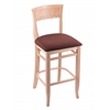 "3160 25"" Stool with Natural Finish, Axis Paprika Seat"