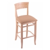 "Holland Bar Stool Co. 3160  25"" Stool with Natural Finish, Axis Summer Seat"