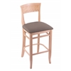 "3160 25"" Stool with Natural Finish, Axis Truffle Seat"