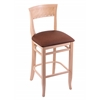 "Holland Bar Stool Co. 3160  30"" Stool with Natural Finish, Rein Adobe Seat"
