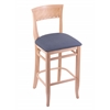 "Holland Bar Stool Co. 3160  25"" Stool with Natural Finish, Rein Bay Seat"