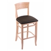 "Holland Bar Stool Co. 3160  25"" Stool with Natural Finish, Rein Coffee Seat"
