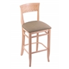 "3160 25"" Stool with Natural Finish, Rein Thatch Seat"