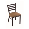 "400 Jackie 18"" Chair with Black Wrinkle Finish, Allante Beechwood Seat"